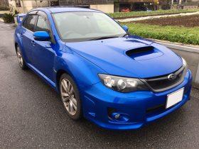車名: インプレッサWRX STi、年式: 平成24年8月、型式: CBA-GVB、色: ブルー