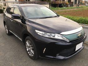 車名: ハリアー プレミアム メタル&レザーPKG、年式: 平成29年10月、型式: DBA-ZSU60W、色: パープル