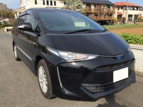 車名: エスティマHV アエラスプレミアム、年式: 平成29年2月、型式: DAA-AHR20W、色: ブラック