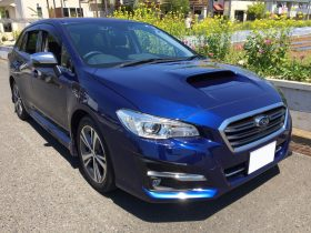 車名: レヴォーグ 1.6GT アイサイト、年式: 平成30年1月、型式: DBA-VM4、色: ブルー